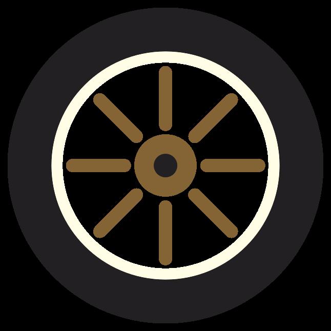 rueda de coche de época png