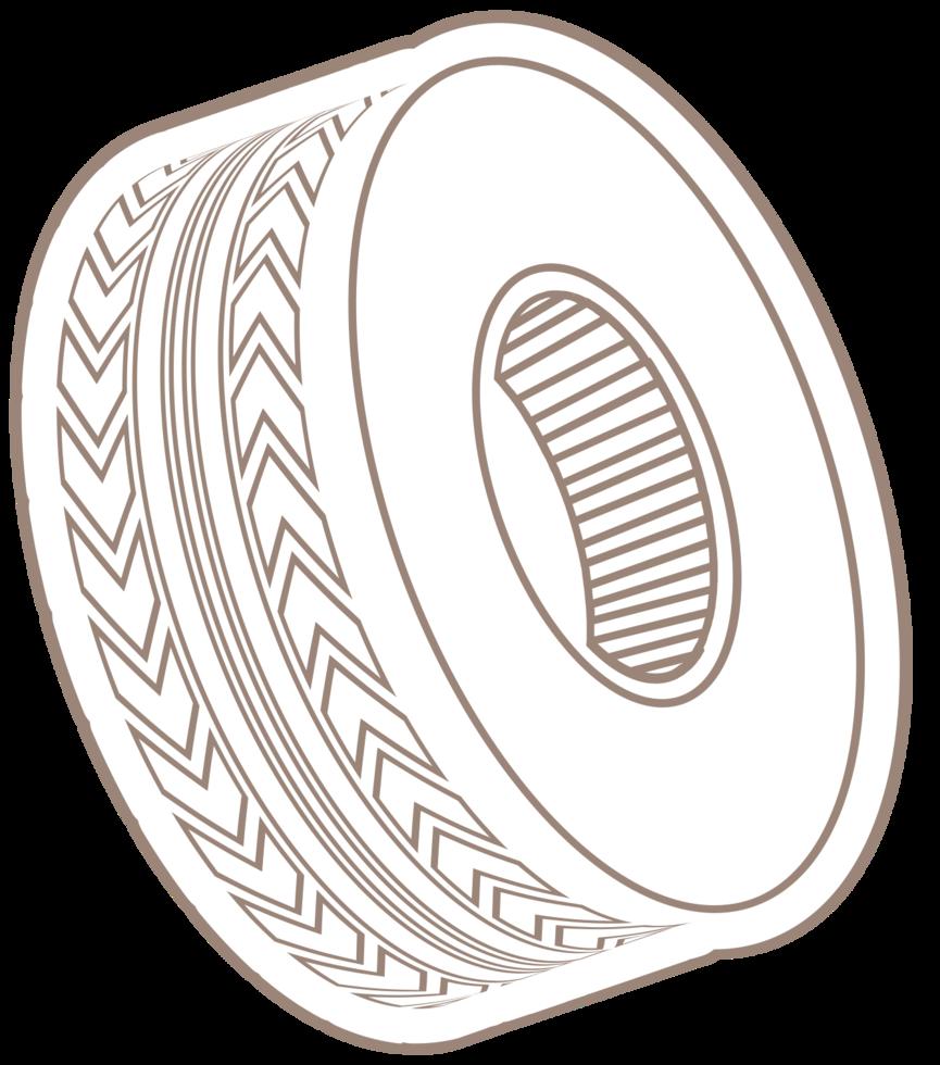 roda de borracha do carro png