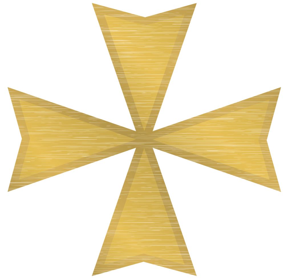 croix maltaise d'or png