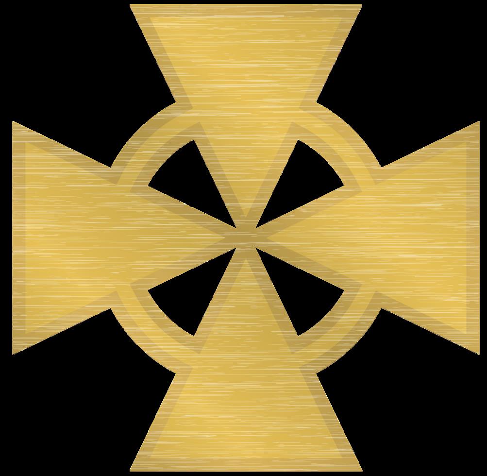 croce maltese d'oro png