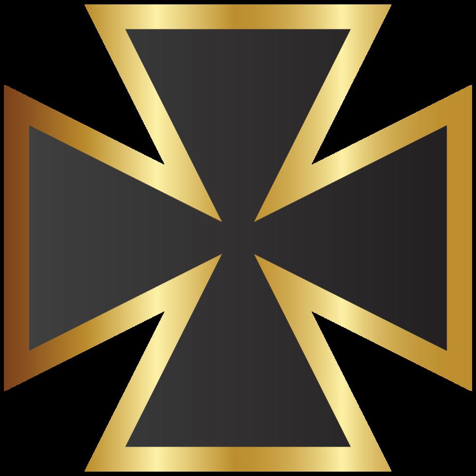 cruz de Malta de ouro png