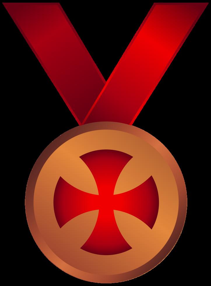 medalha da cruz maltesa png