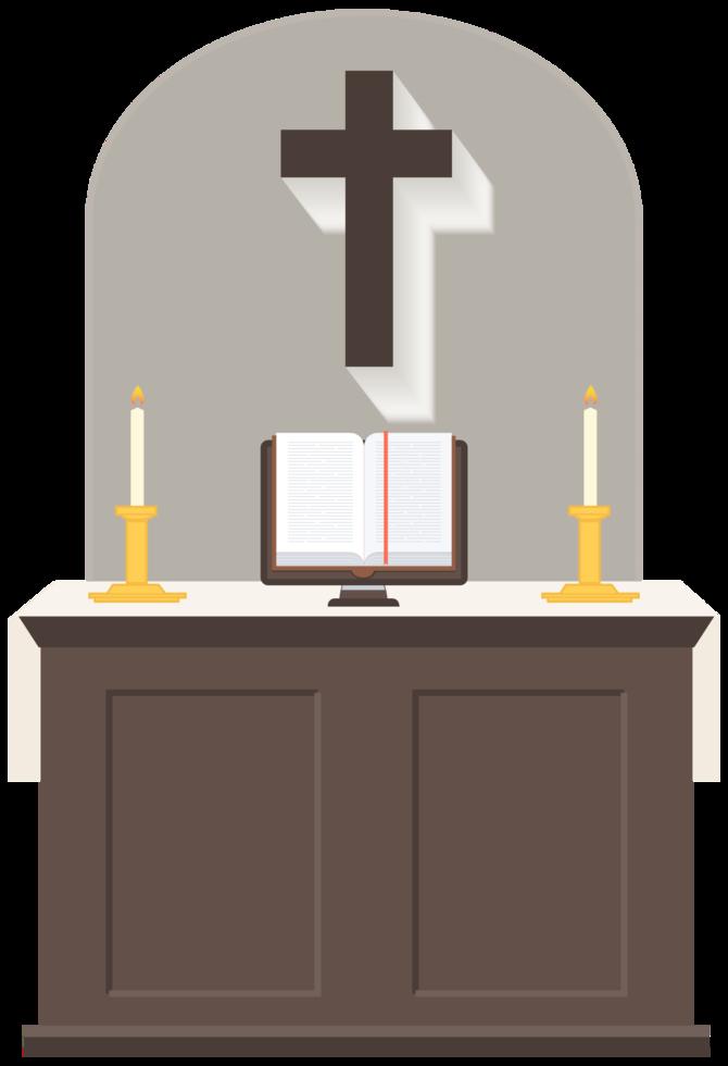 Kreuz in Altar Chruch png