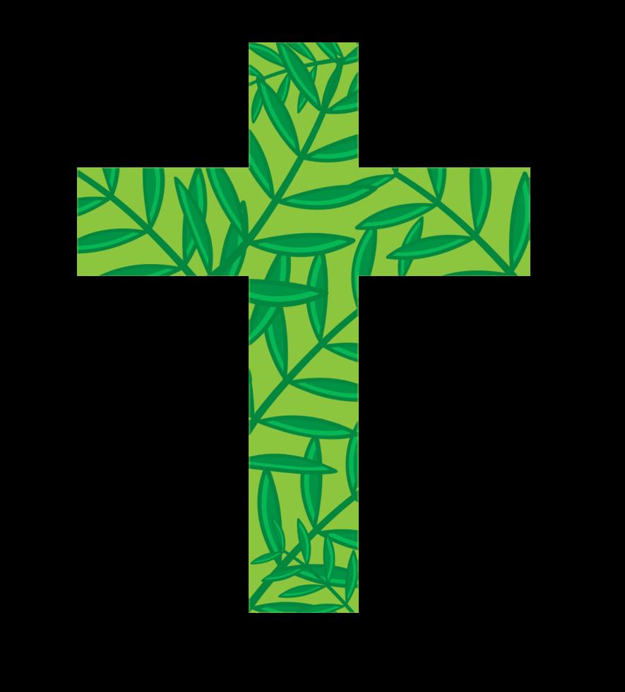 Kreuz Palm Sonntag png