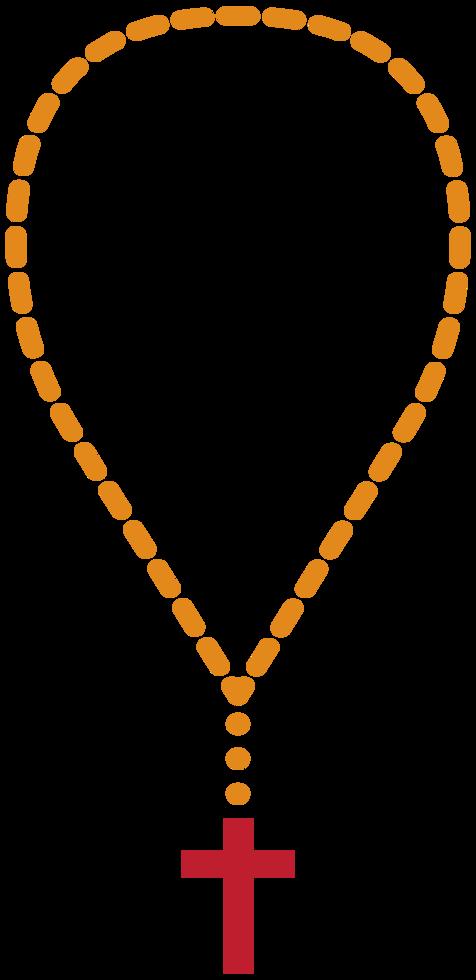 colar de cruz png
