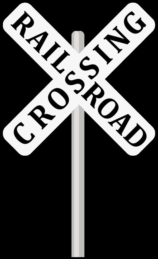 Eisenbahnschild überqueren png
