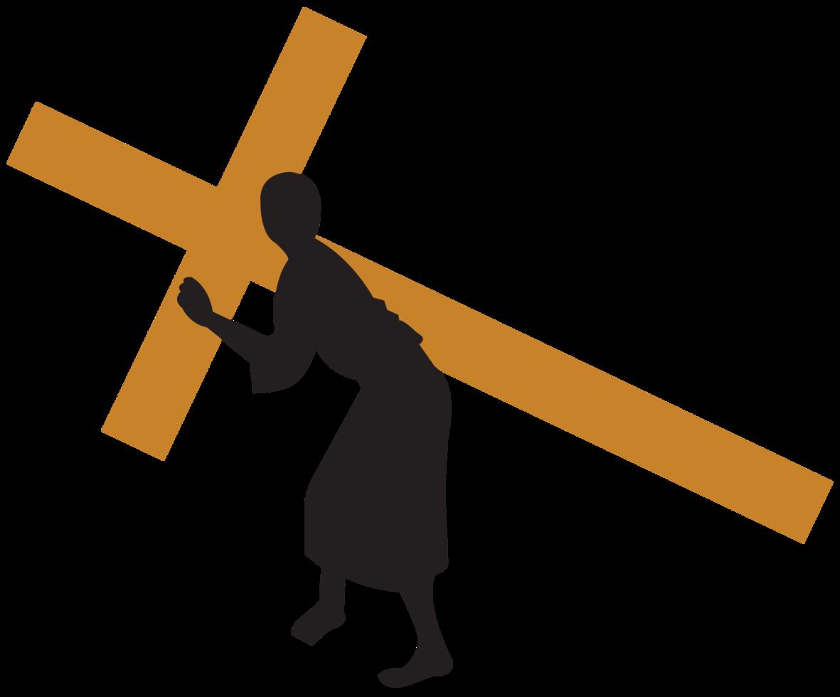 Jesus carregando a cruz png
