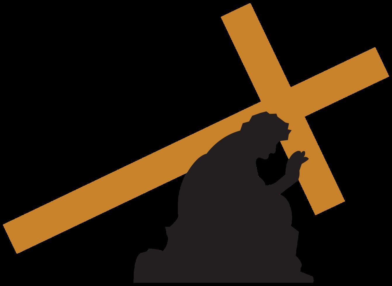 Gesù porta la croce png
