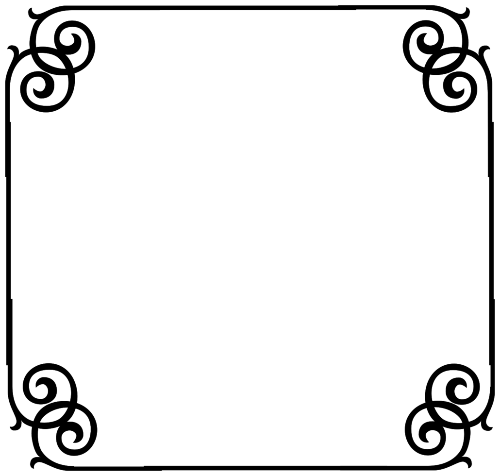 dekorativ ram fyrkant png