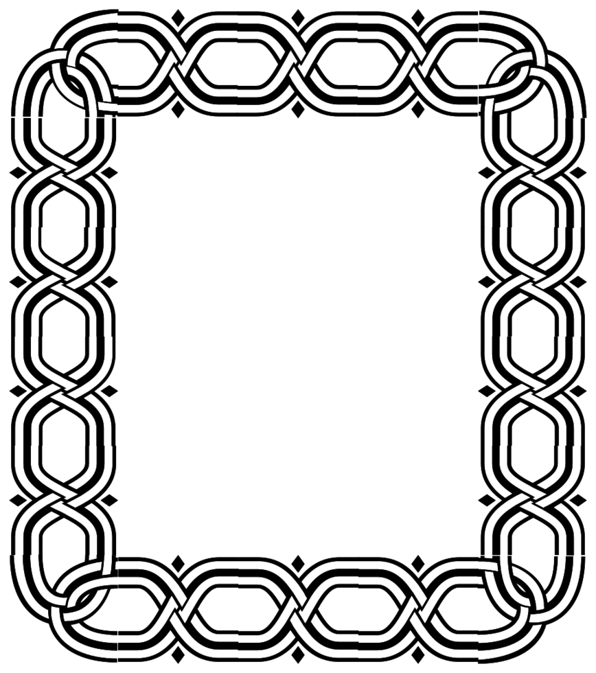 cornice rettangolare decorazione png