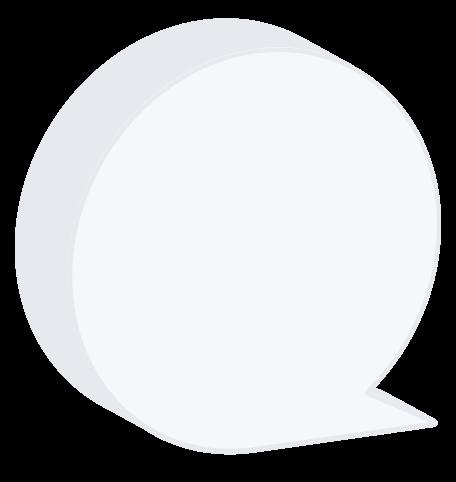burbujas de discurso isométricas png