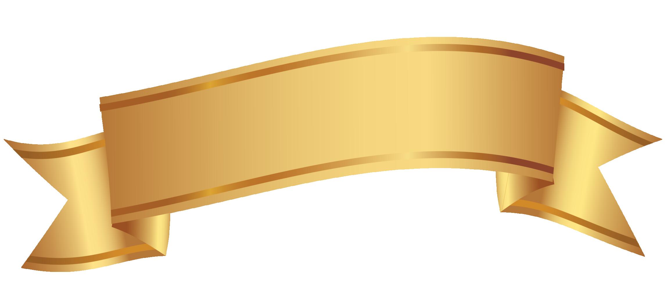 banner decorativo dourado png