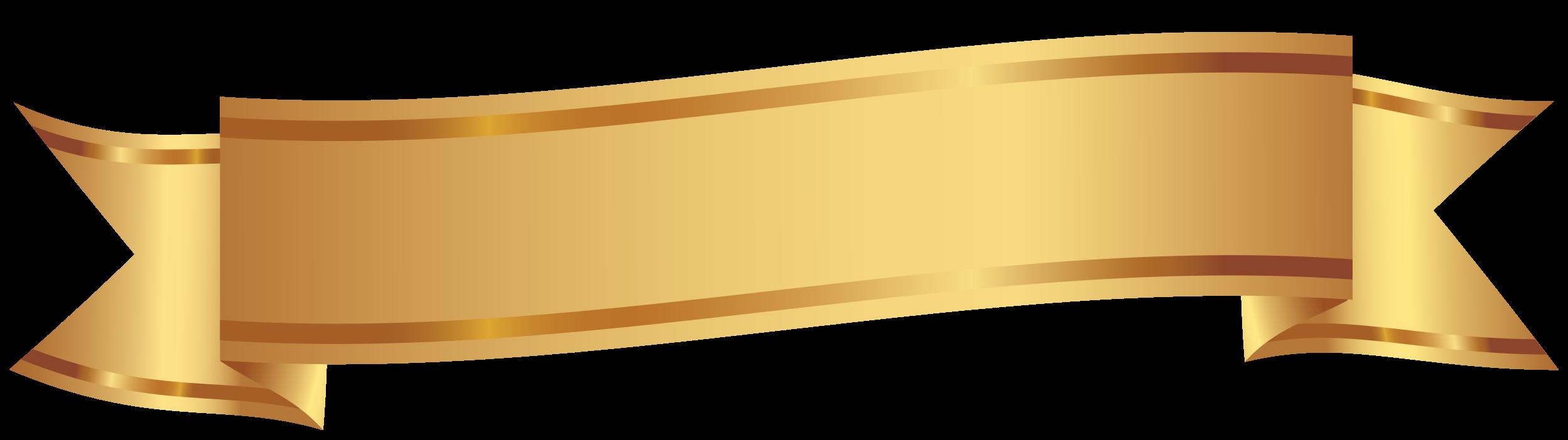 gouden decoratieve banner png