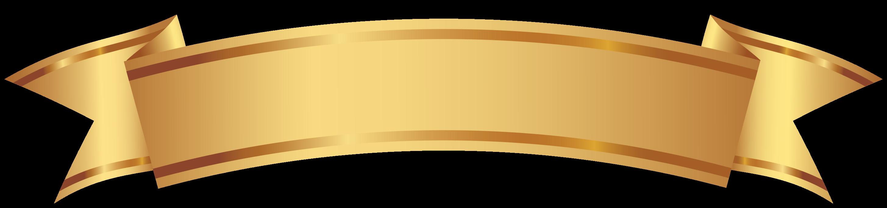 Golden decorative banner png