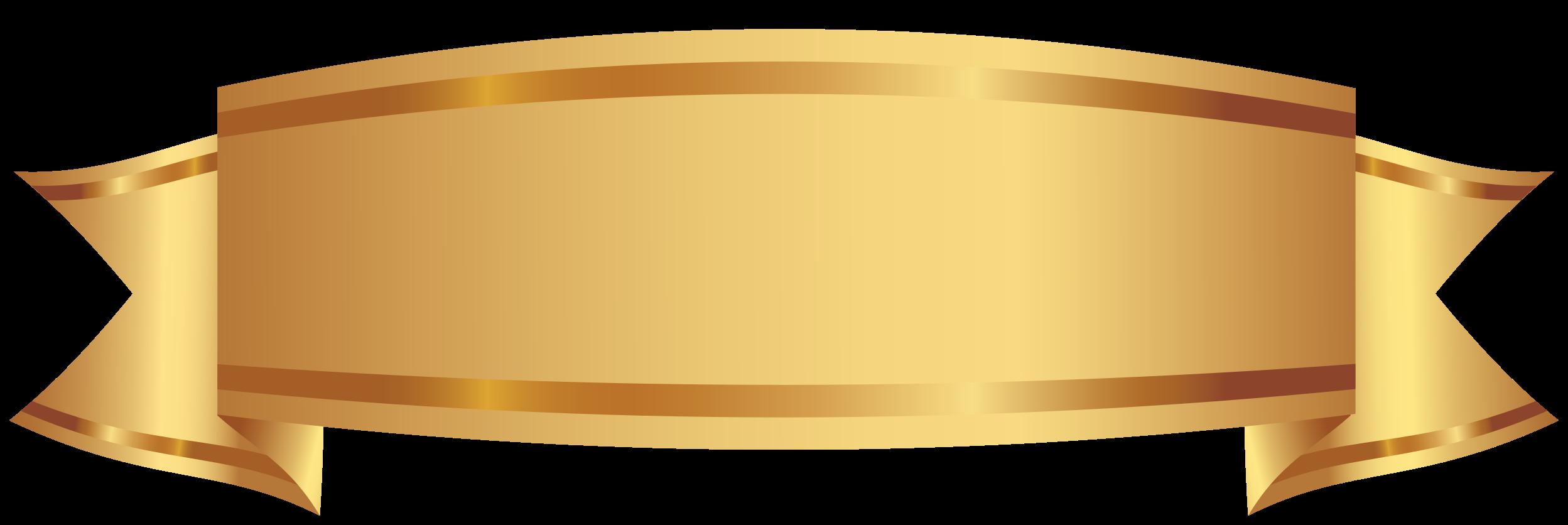 gyllene dekorativa banner png