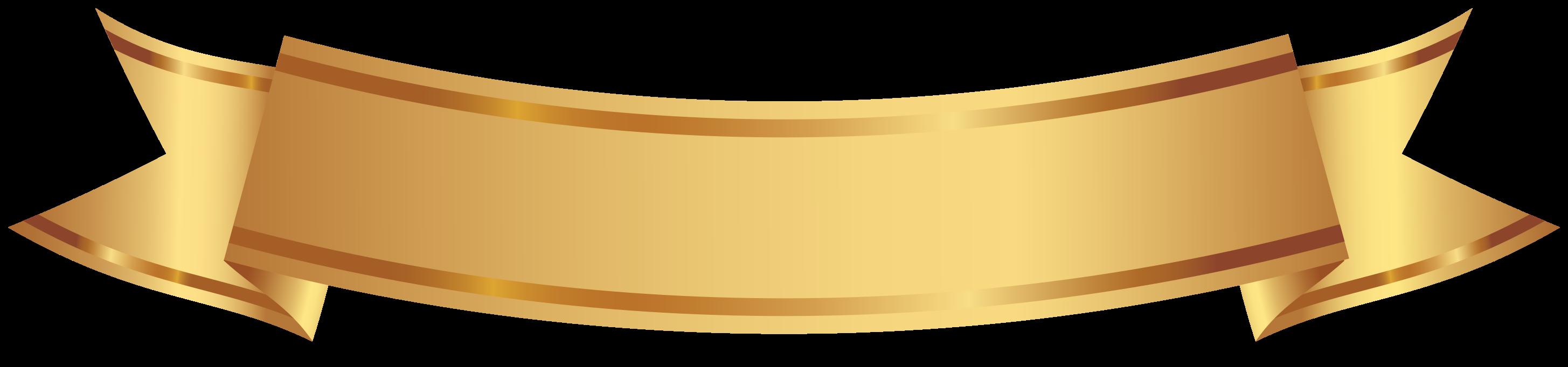 banner decorativo dorado png