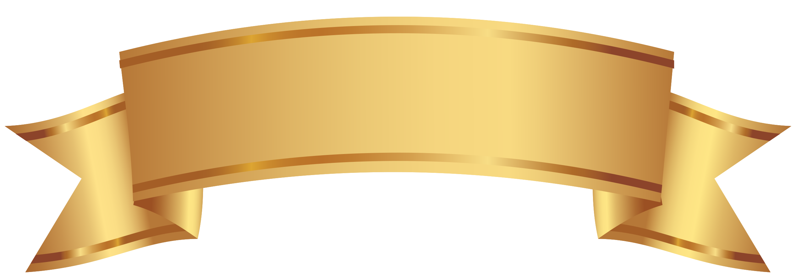 banner decorativo dorato png