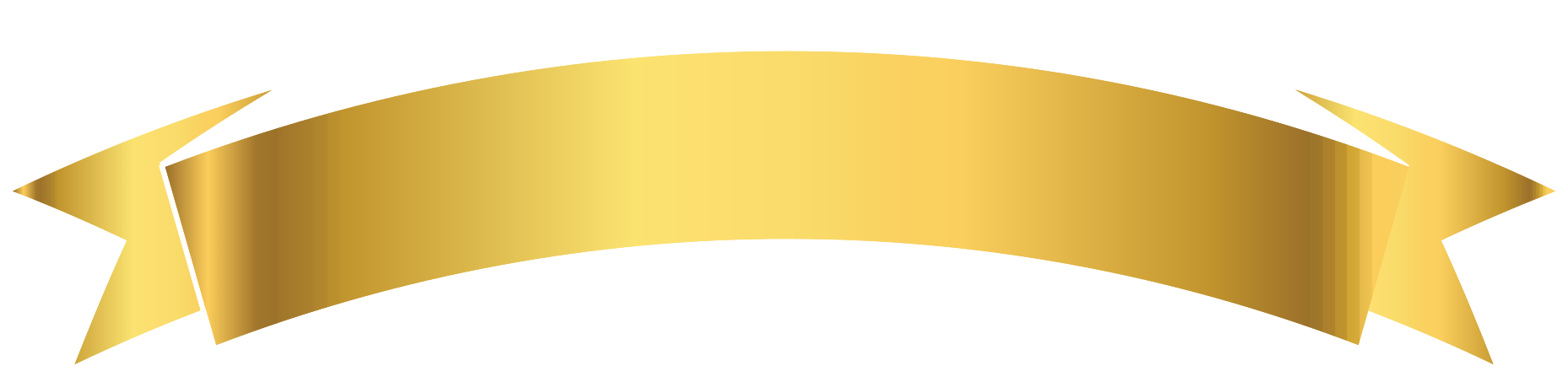 ruban d'or png