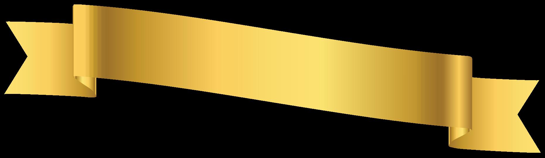 Golden ribbon png