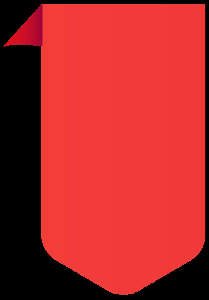 bannière de couleur vive png
