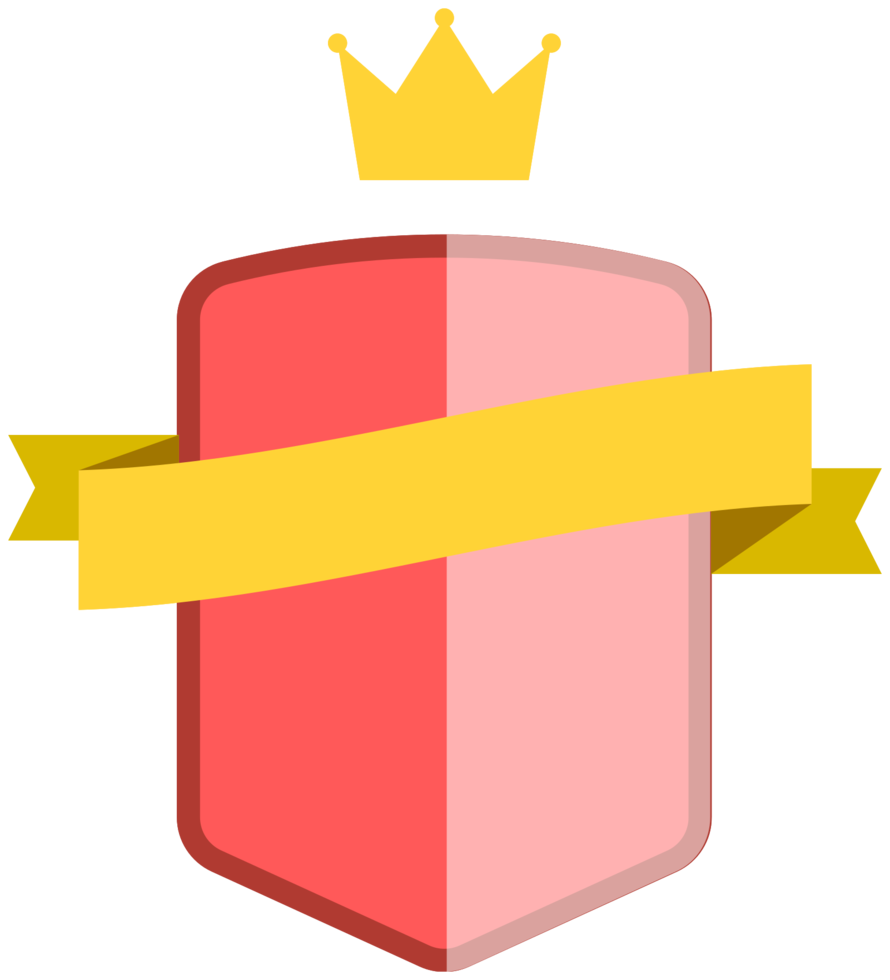 insignia con cinta png