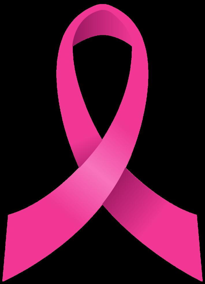 fita rosa de câncer de mama png