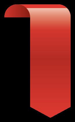glansigt rött banner png
