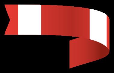 bandera roja brillante png