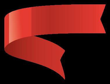 bannière rouge brillant png
