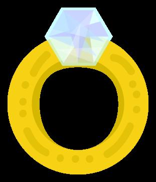 anillo de diamantes de oro png