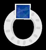anillo de diamantes de plata png