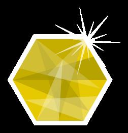 hexagone de diamant png