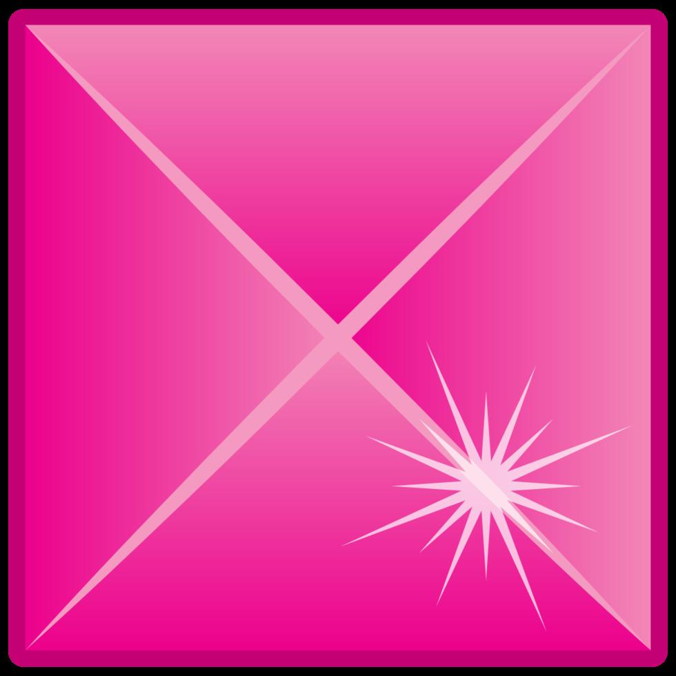 diamant edelsteen vierkant png