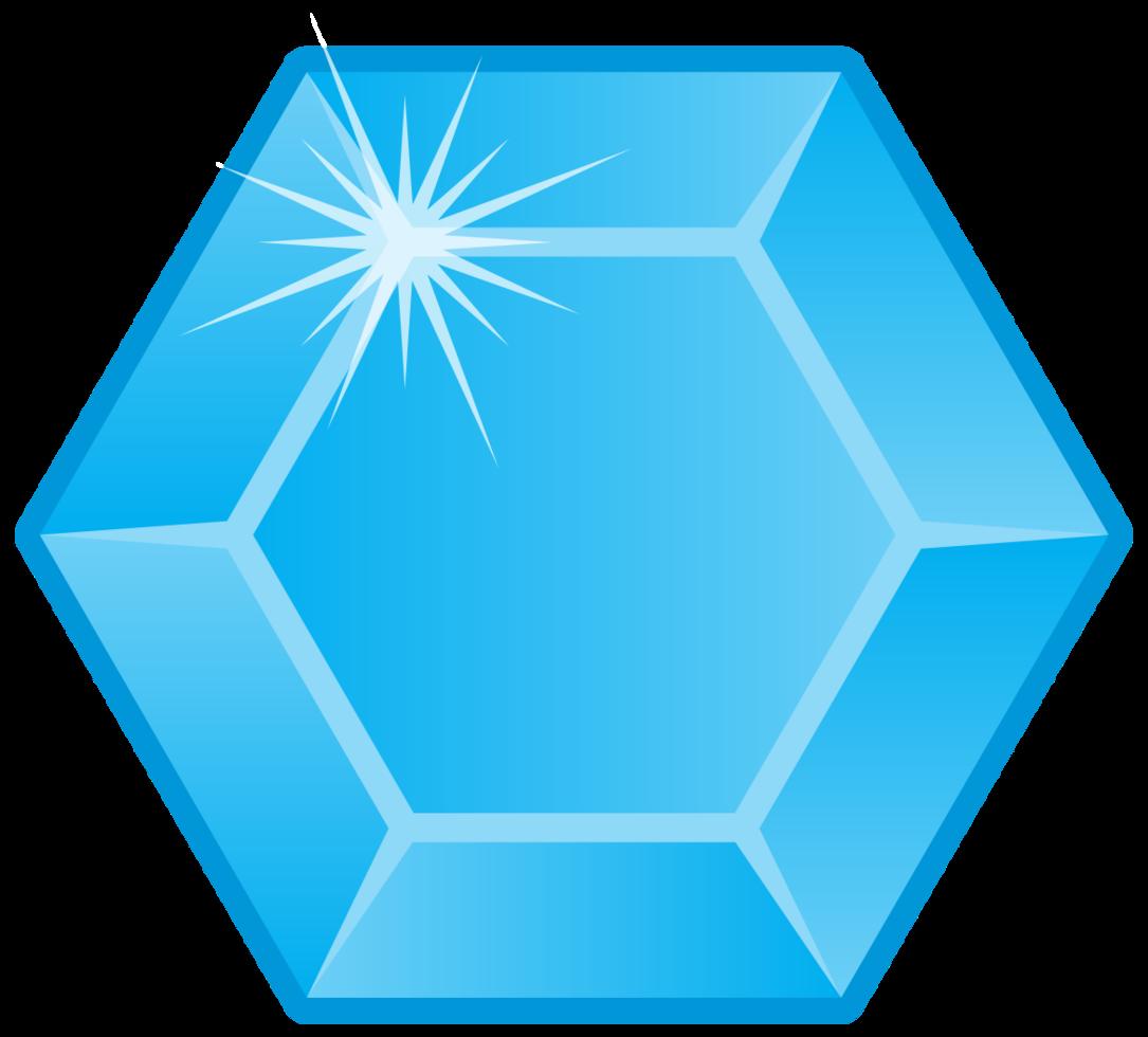 hexágono de pedra preciosa diamante png