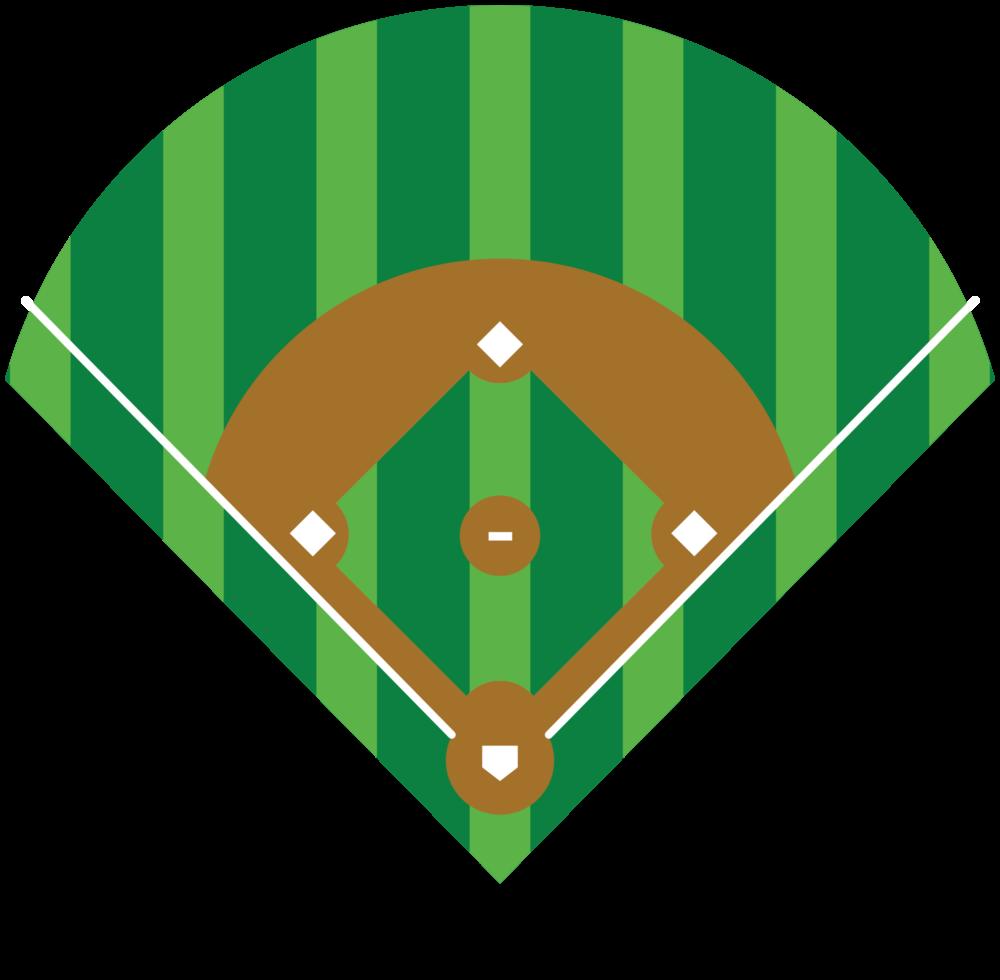 Diamante do baseball png