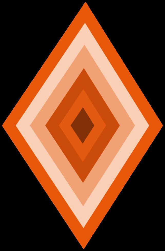 diamante geométrico, png