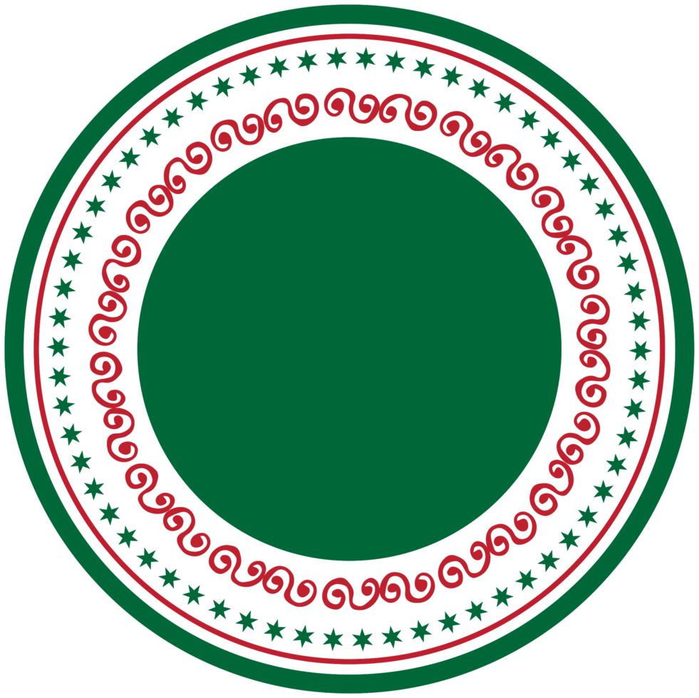 décoration d'étiquette de Noël png