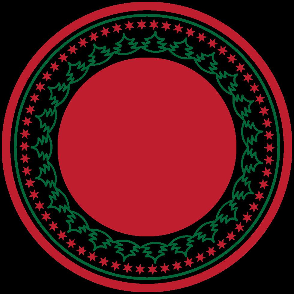 etiqueta de natal decoração png