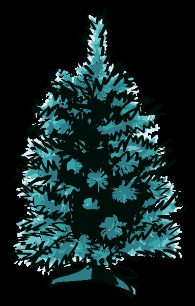 Weihnachtsdekoration Skizze png