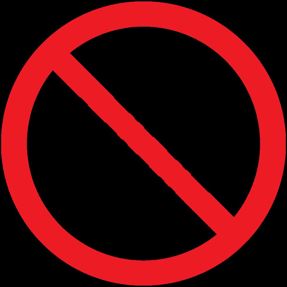 câmera de sinal de proibição png