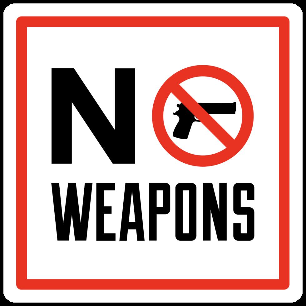kein Schusswaffenschild png