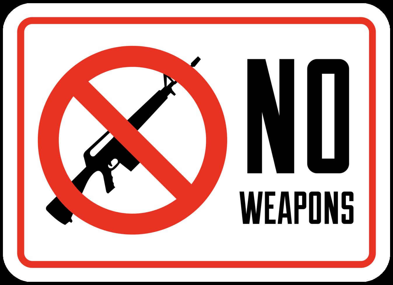 geen teken van vuurwapens png
