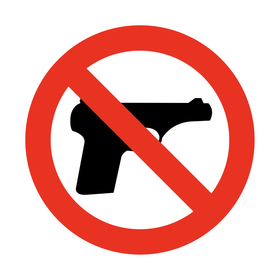 No firearms sign  png