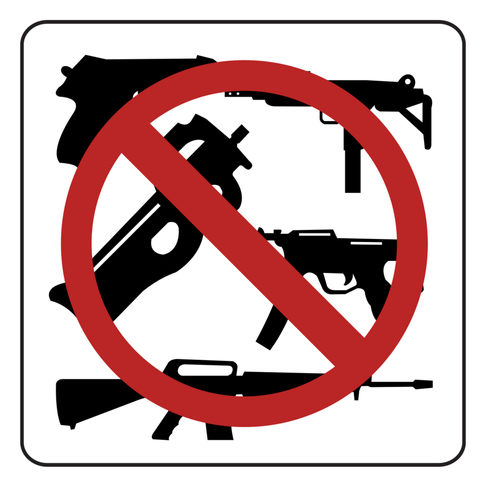 geen vuurwapens png