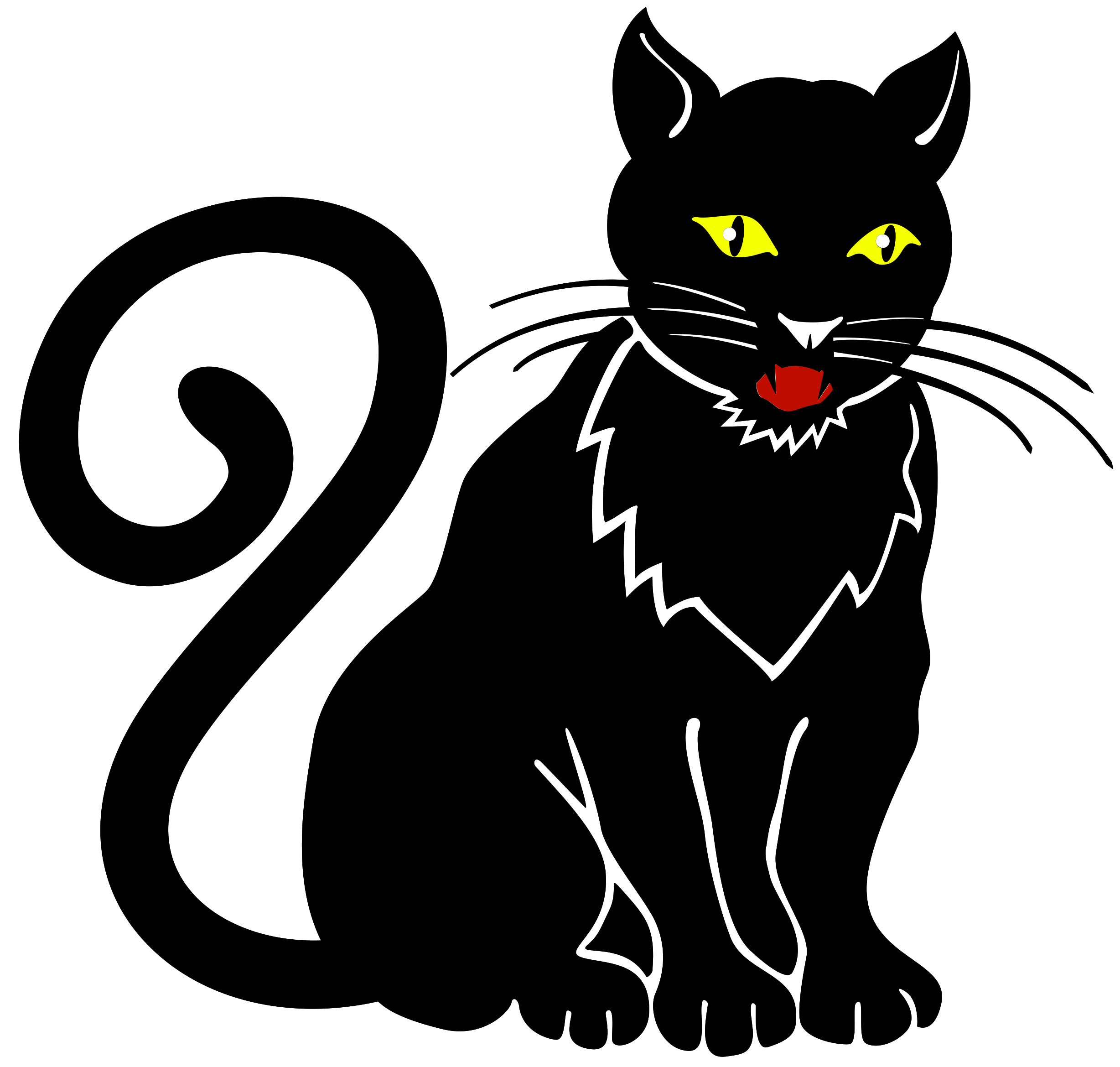 Free Black Cat PNG with Transparent Background
