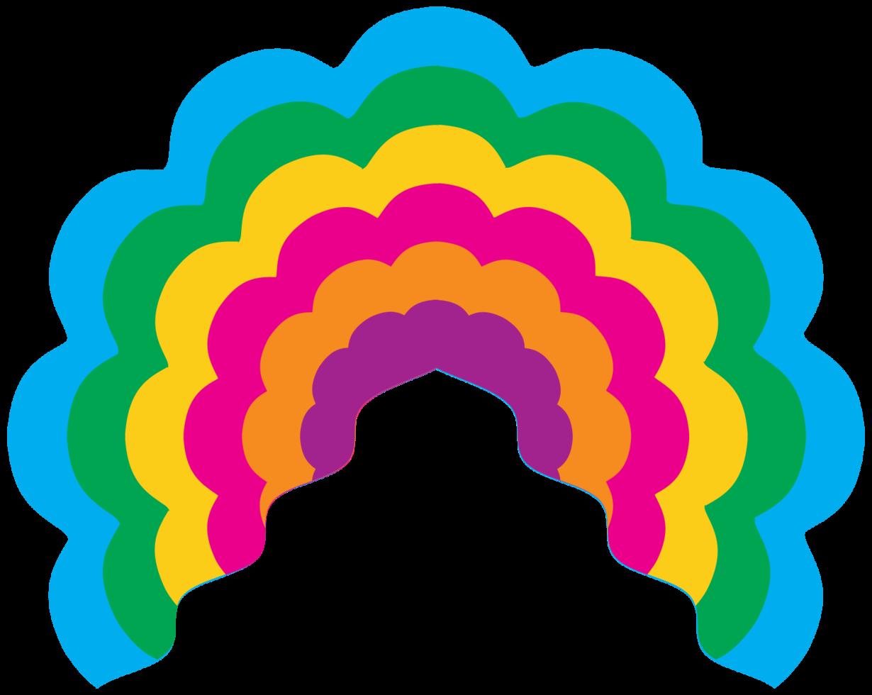 ventilador de mão do arco-íris png