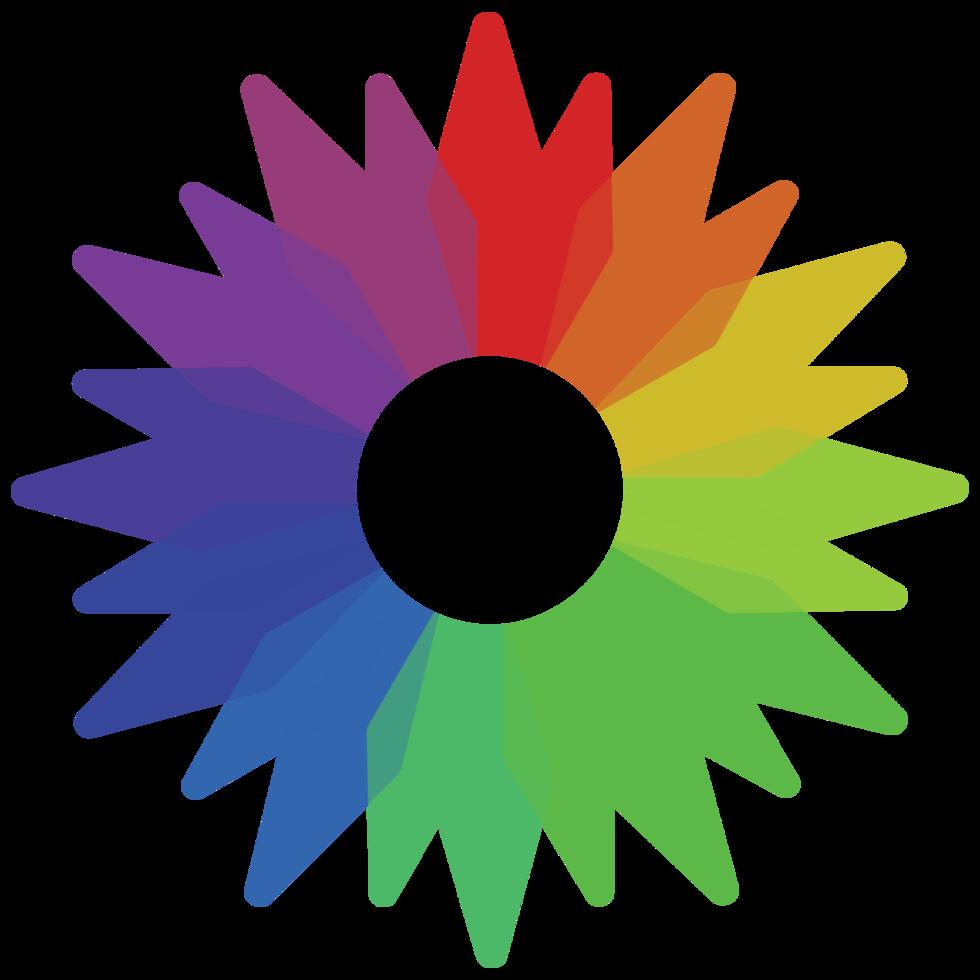 amostra de cor do arco-íris png