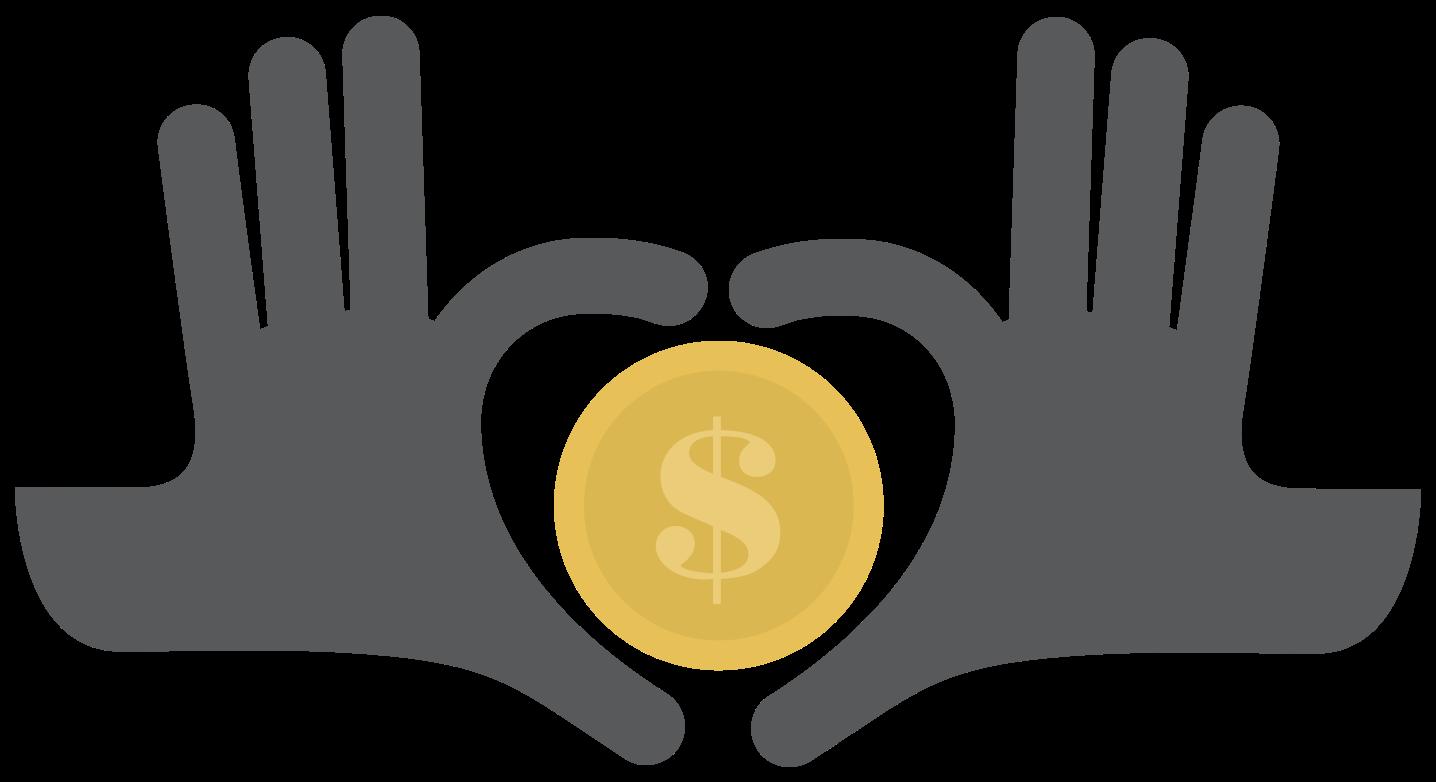 moneta da un dollaro e mano png