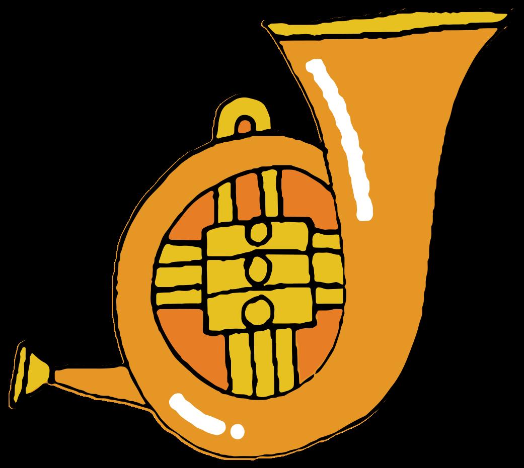 handgezeichnetes Musikinstrument Tuba png