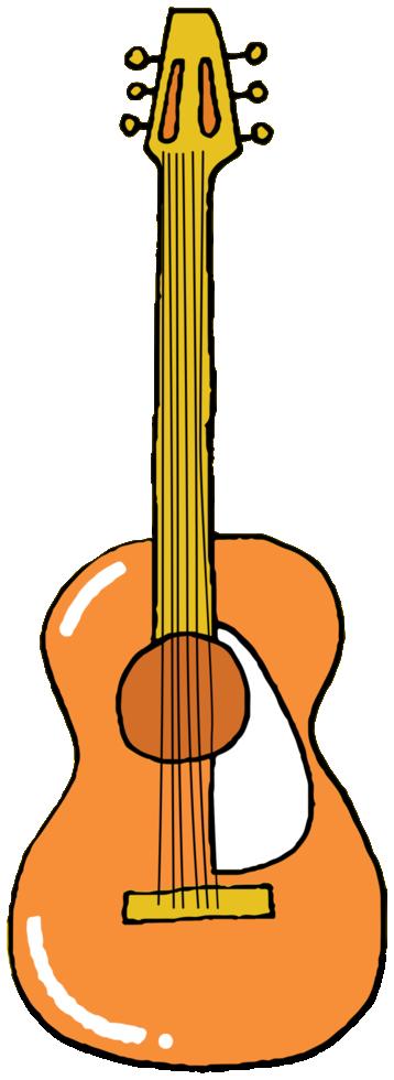 chitarra strumento musicale disegnato a mano png